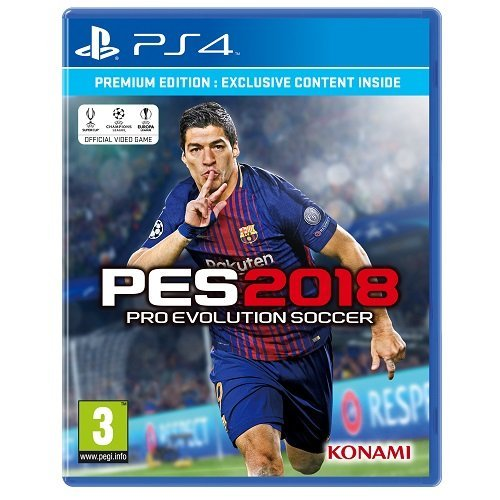PES2018 Luis Suarez cover PS4 game