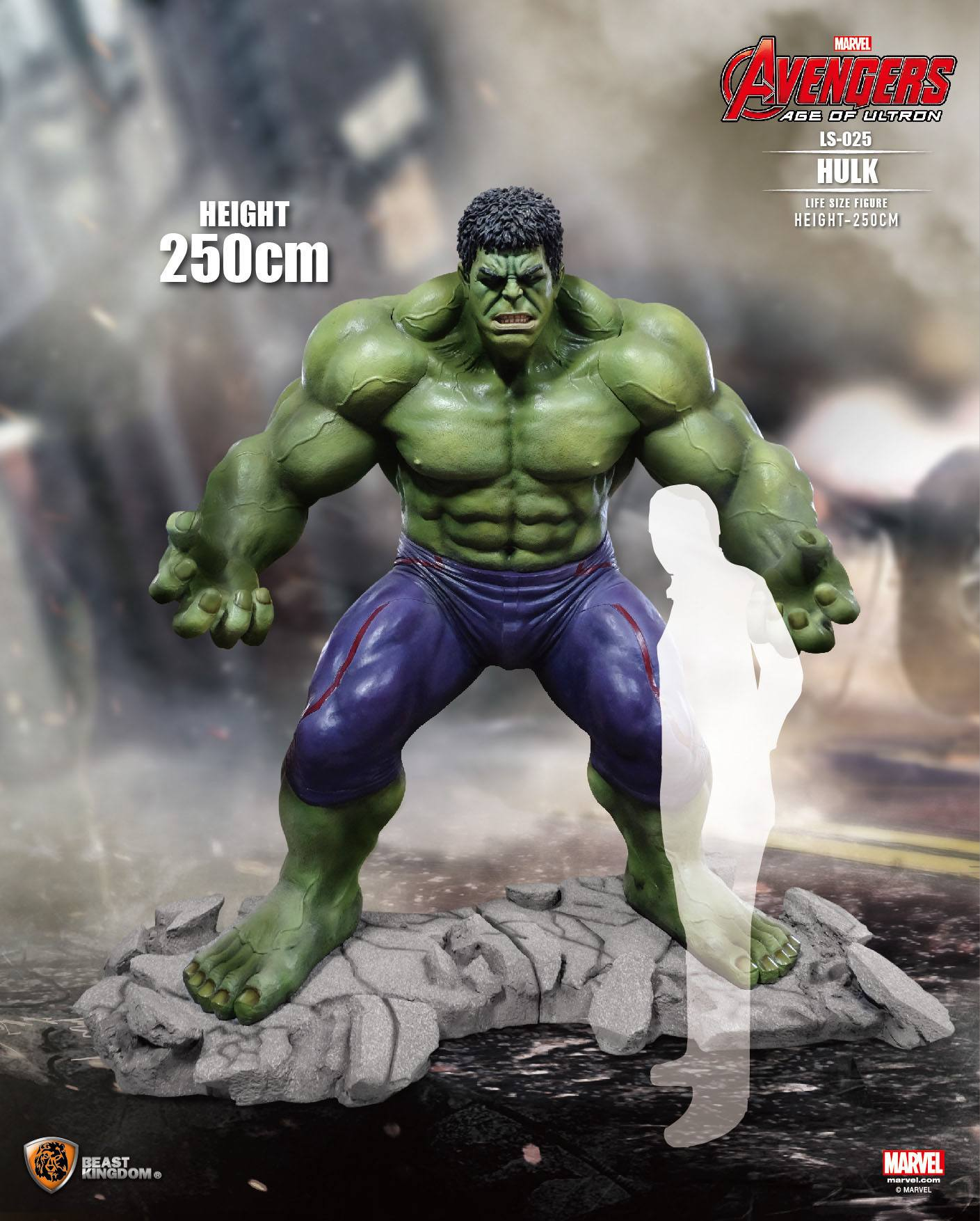 the incredible hulk giant life size statue on demand items sds cool stuff