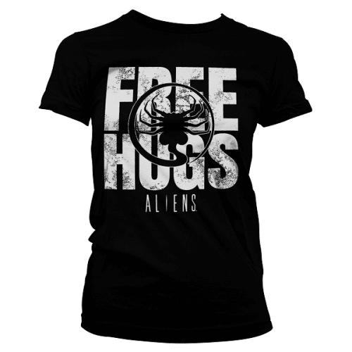 Aliens Free Hugs Girly T-Shirt