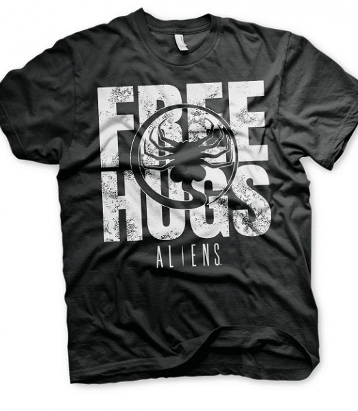 Aliens Free Hugs Mens T-shirt