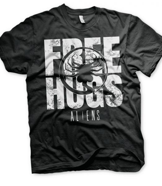 Aliens Free Hugs Mens T-shirt