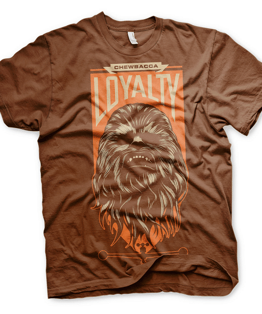 Chewbacca loyalty Mens T-shirt brn