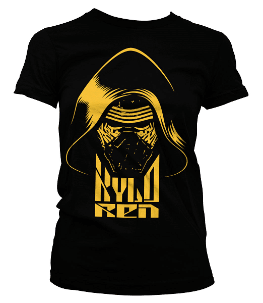Kylo Ren blk & Gold Girly T-Shirt