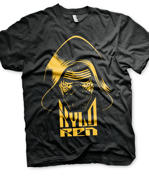 Kylo Ren blk & Gold Mens T-shirt