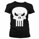 The Punisher Skull Girly T-Shirt ( Black)