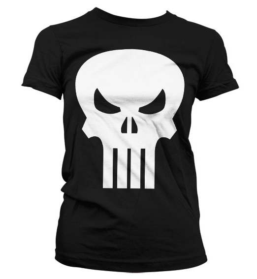 Punisher Girly t-shirt Blk
