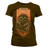 Star Wars Chewbacca Loyalty Girly T-Shirt (Brown)