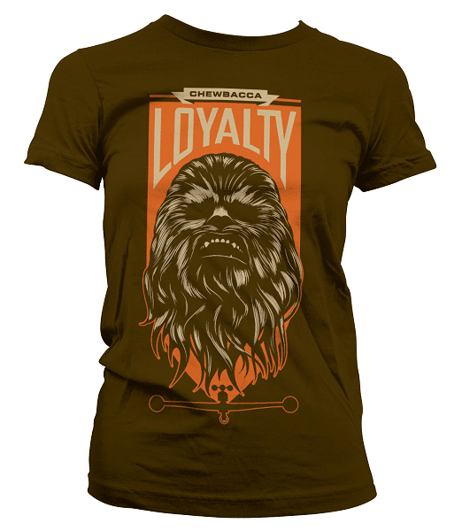 Star Wars Chewbacca Loyalty Girly T-Shirt (Brown)