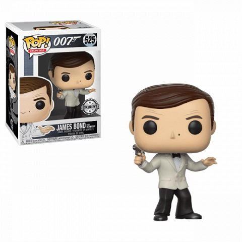 James Bond Roger Moore (White Tuxedo Jacket) Funko POP!