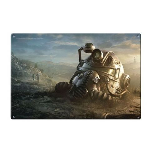 Fallout T-51b Power Armor Metal Lithograph