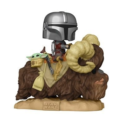 Star Wars: The Mandalorian - Mando on Bantha with The Child in Bag Funko Pop!