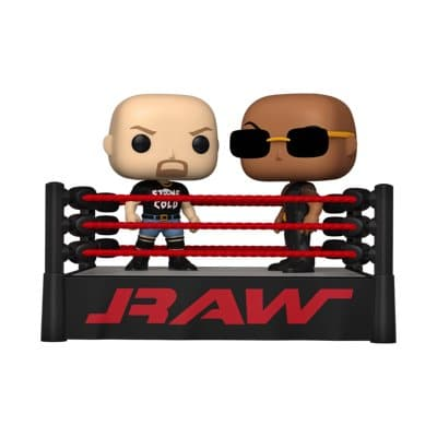 The Rock vs Stone Cold in the Wrestling Ring Funko Pop Moment